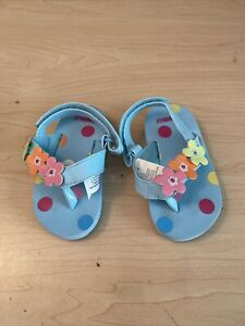 Gymboree 2013 Baby Octopus Swim Line Flip Flop Toddler Girl Size 3-4