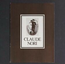CLAUDE NORI French Photographer Small Photo Book SIGNED to Sam Haskins RARE