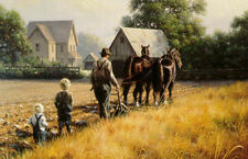 """MARK KEATHLEY """"In His Steps""""  24"""" X 16"""" (RARE) SIGNED and Numbered Print"""