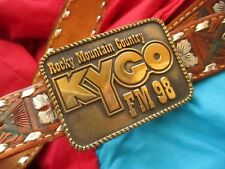 SZ 28 SMALL True Vtg 70s KYGO DENVER COUNTRY BUCKLE Western COWBOY MIKE Belt