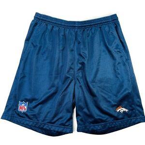 Denver Broncos Training Camp Athletic Shorts Reebok Medium Blue NFL Team Apparel