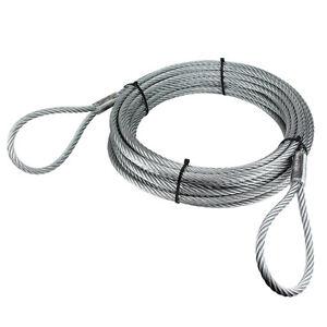 Anschlagseil 8mm 2 x Schlaufe Seil Forstseil Drahtseil Stahlseil Forst Bau