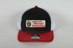 Vintage Smokey the Bear Prevent Wildfires Patch on a Richardson 112 Trucker Hat