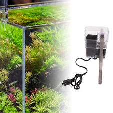 mini aquarium power filter waterfall water pump fish tank hang on slim filter.AU