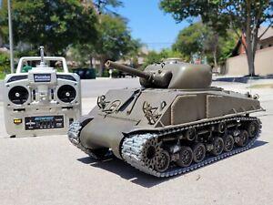 Tamiya 1/16 R/C M4 Sherman Tank 105mm Howitzer Full Option DMD T-05 Unit Futaba