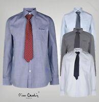 Mens Branded Pierre Cardin Stylish Classic Long Sleeve Shirt Tie Set Size S-XXL