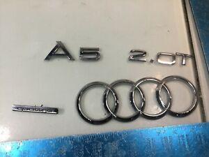 13-17 Audi A52.0T Quattro Rear Trunk Lid Emblem Logo Badge Sign Set W