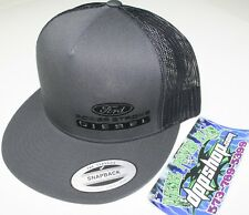 ford powerstroke trucker Flat bill ball cap hat snap back mesh black diesel gear