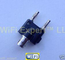 1 x BNC Female plug to Two dual Banana binding Male jack connector adapter USA
