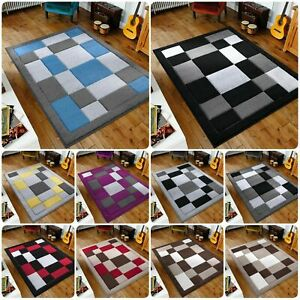 New Stylish Top Quality Modern Beautiful Design Squares Soft Rugs (Small-X Large