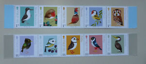 2016 ISLE OF MAN BIRDS SET OF 10 STRIP OF MINT STAMPS MNH