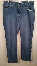 Women's Lee Jeans blue Boot cut  classic Fit Stretch straight leg size 16M 16 M