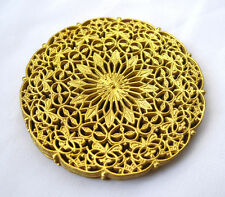 Round Stamping Brass Filigree Findings for Jewelry Design Zodiac bf119(6pcs)
