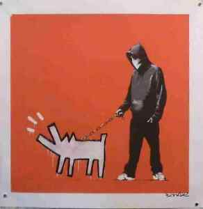 Banksy Dog Barking Dog Cartoon Hoodie A3 Photo Print Poster