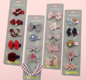 Kids Baby Girls Children Toddler Flowers Hair Clip Bow Accessories Hairpin