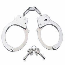 Fein Handschellen aus Stahl Polizei Aufgaben Lock Double Spielzeug Keys Han V5P4