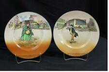 Royal Doulton Mr. Pickwick and Sairey Gamp Plates Pre-Owned