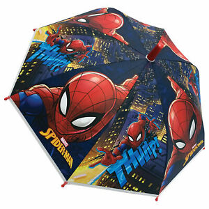 Kids Boys Dome Umbrella SPIDERMAN Bubble Childrens Official Licensed