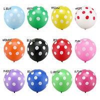 "10pcs 12"" Polka Dot Balloons Birthday Wedding Baby Shower Party Decoration"