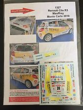 DECALS 1/43 RENAULT CLIO R3 MAUFFREY RALLYE MONTE CARLO 2010 RALLY WRC