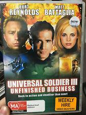 Universal Soldier III 3 Unfinished Business (1999) ex-rental region 4 DVD (RARE)