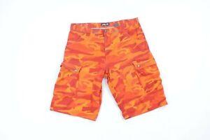 Vintage 90s Pelle Pelle Streetwear Mens 40 Camouflage Denim Jean Cargo Shorts