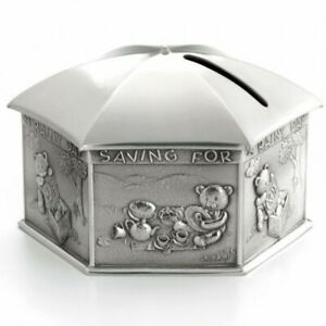 Royal Selangor Teddy Bear's Picnic Collection Pewter Rainy Day Coin Box Gift