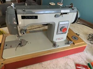 Jones Model 568 QD94466 Sewing Machine Vintage Not Turned On To Check If Working