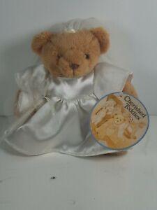 "2002 Priscilla Hillman Cherished Teddies Plush Teddy Bear Bride Small 6"" Stuffed"