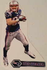 """Wes Welker FATHEAD Mini 8"""" Player Graphic w/ Name Sign PATRIOTS Wall Graphics"""