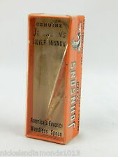 New Sealed Vintage Johnson's Silver Minnow #1310 Weedless Spoon Fishing Lure