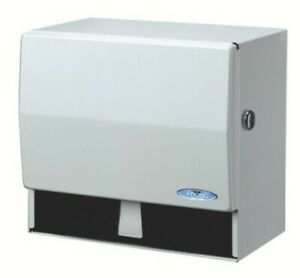 Frost Universal Towel Dispenser, With Lock, White
