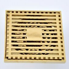 Gold Color Brass Square Shower Drain Floor Waste Drain Cover Strainer ehr070