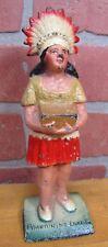 Antique Cast Iron Native American Indian Woman Pymatuning Lake Pa Statue Doorstp