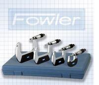 Fowler 4 Pc. Outside Micrometer Metric Set 0-100mm