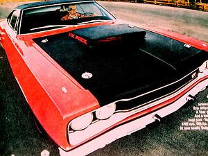1969 DODGE CORONET SUPER BEE ORIGINAL AD *426 Hemi/440 v8/hood/door/decal/wheel