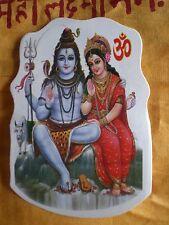 Aufkleber goa psy hippie sticker indien inde Shiva Parvati Nandi yoga om gott
