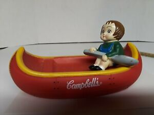 Campbells soup collectables Toy Boat Canoe and Kid