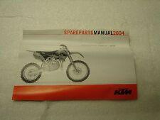 KTM Racing Spare Parts Manuel 2004 Year P/N: 3208117