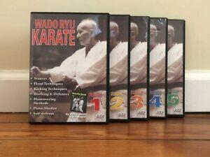 WADO RYU KARATE SERIES (5) DVD SET hand kicking techniques katas strikes defense