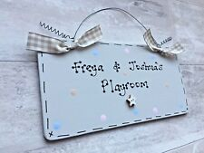 PERSONALISED PlayRoom PlayHouse Bedroom Sign ~ Choose Message, Design & Colours