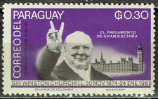 Paraguay Ww2 Victory Chirchill 1965 stamp Mnh