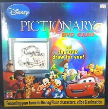 Disney Pixar Pictionary DVD Family Boardgame Kid Board Game Complete Cars Mickey