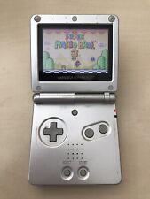 Nintendo Game Boy Advance SP Silver AGS-101 Bright screen model