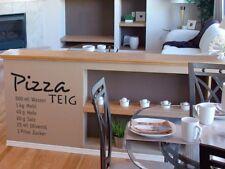 Tatuaggio parete per cucina sala da pranzo cucinare cibo RICETTA PIZZA IMPASTO PIZZA