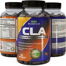 CLA Weight Loss Supplement Pure Conjugated Linoleic Acid Diet Pills 60 Softgels