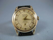 LECOULTRE MENS 14K SOLID GOLD SCREWBACK FANCY LUGS AUTOMATIC