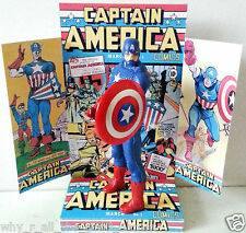 "Marvel Comics CAPTAIN AMERICA 6""/15cm ACTION FIGURE on Custom Design Display [2]"