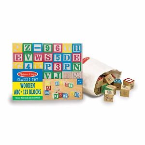Melissa And Doug Classic Toy Wooden ABC 123 Blocks NEW Traditional Toys