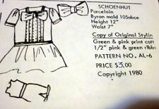 "GREAT VTG 12"" ""SCHOENHUT""  Antique DOLL CLOTHING SEWING PATTERN Anna Lou's"